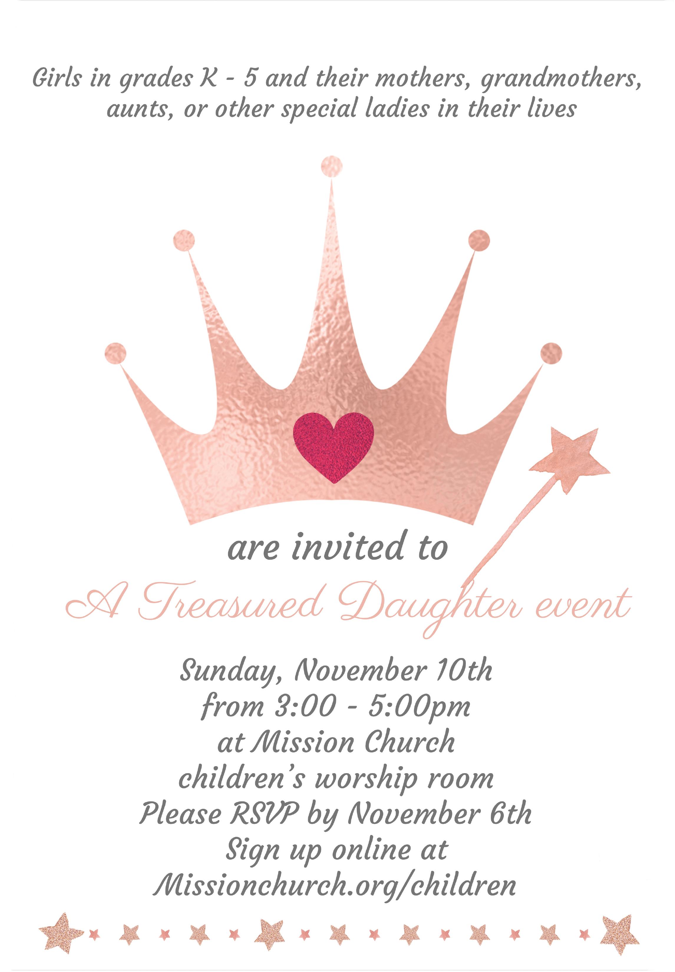 Treasured Daughter invite